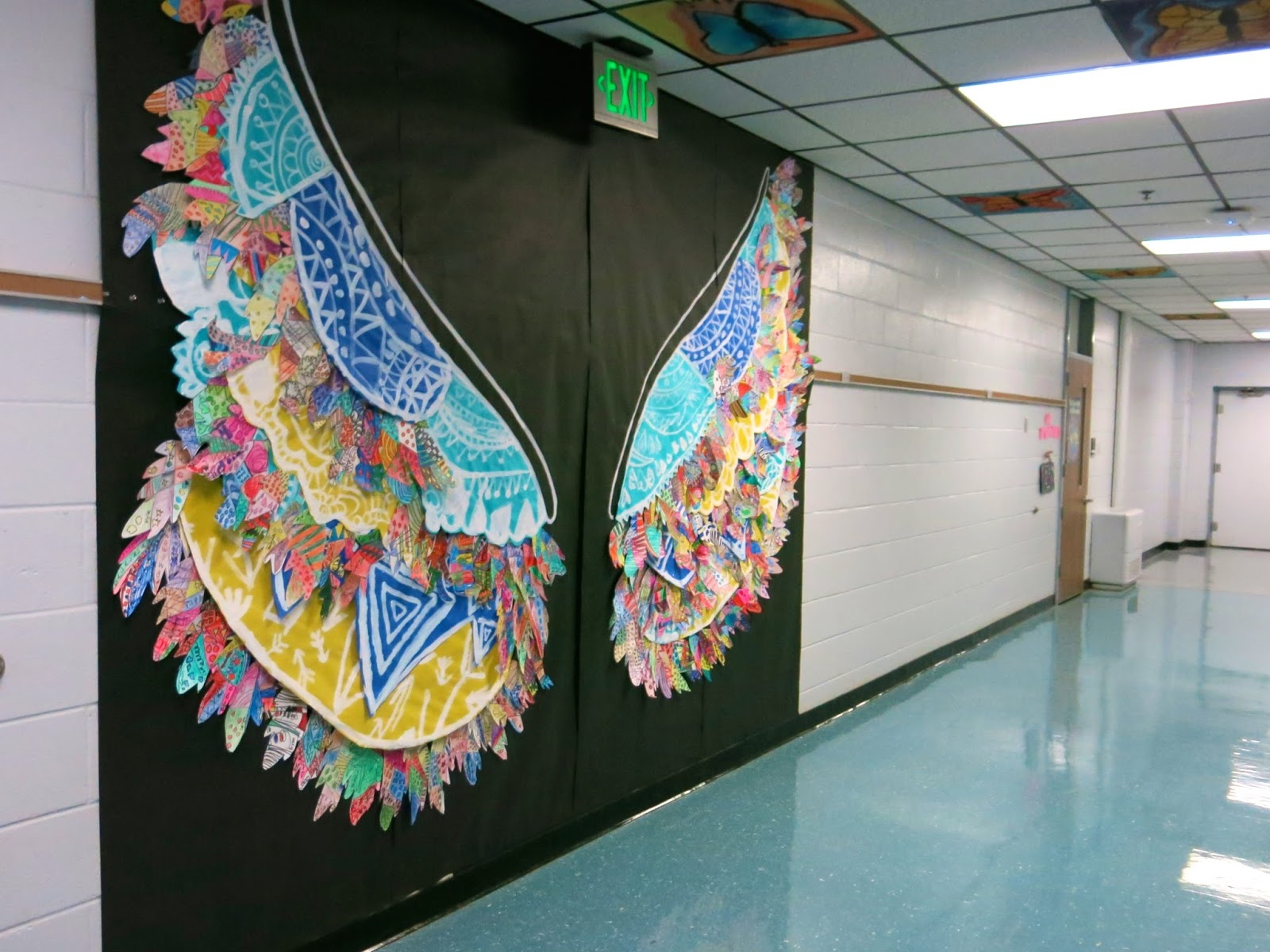 Collaborative Classroom Art Project : Cassie stephens in the art room kelsey montague inspired