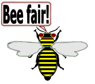 "Click here to get ""Bee Fair"" imprinted on various items at my Zazzle store!"