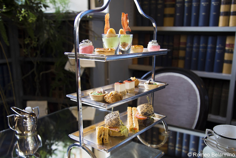 Afternoon Tea Tray Colonnades at Signet Library Things to Do in Edinburgh in 3 Days Itinerary