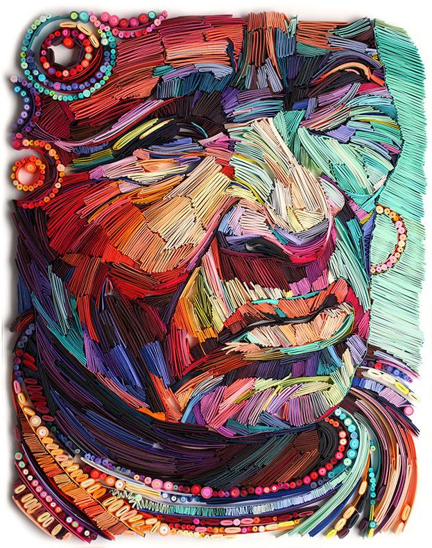 Retratos de papel que resaltan la belleza de la ancianidad por Yulia Brodskaya