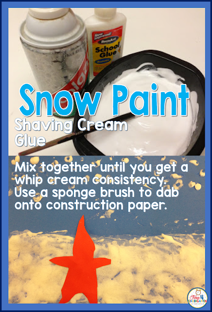 Snow Paint and easy recipe for an art project using the Snowy Day book