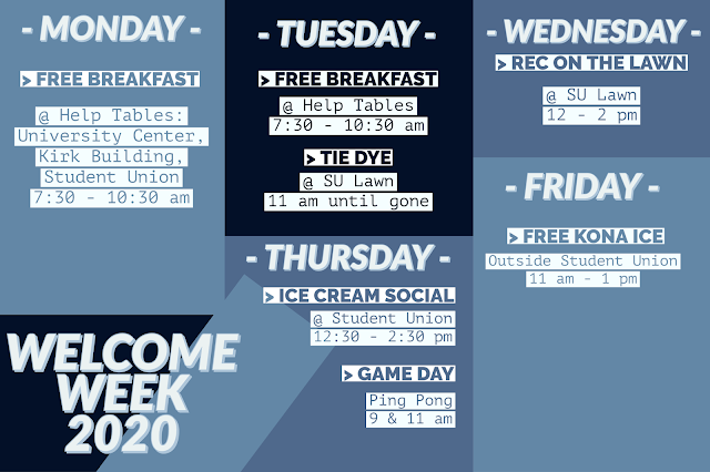 """Graphic that reads """"Welcome Week 2020"""""""