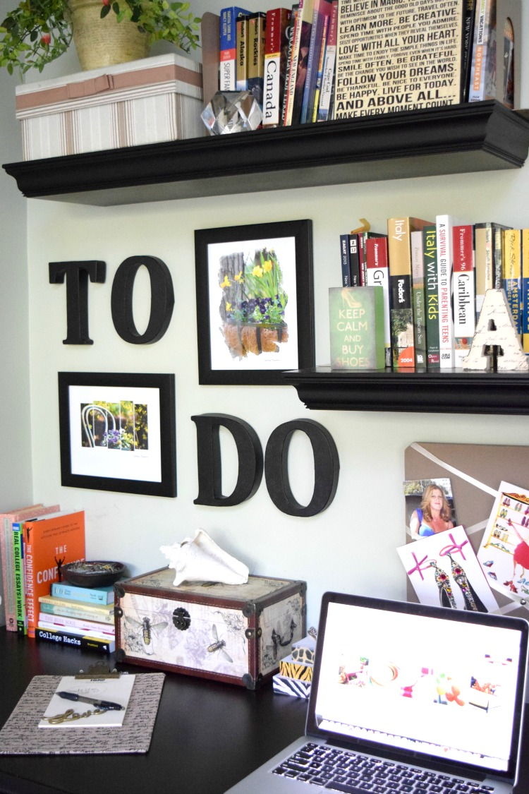"A simple ""To Do"" Wall Project for your home office 