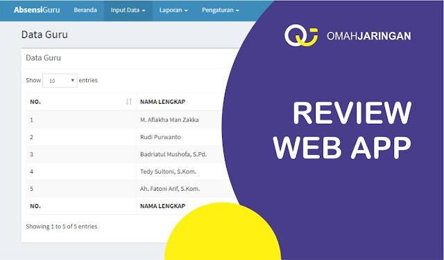 Review Aplikasi Absensi Berbasis Web PHP, MySQL, dan Codeigniter