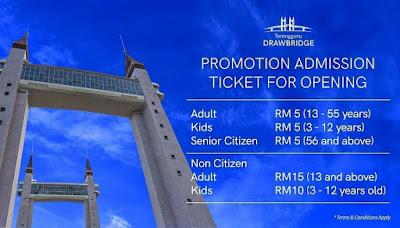 Harga Tiket (Promosi) Drawbridge Terengganu