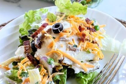 Layered Salad - Layered Overnight Salad With Mayonnaise Recipe