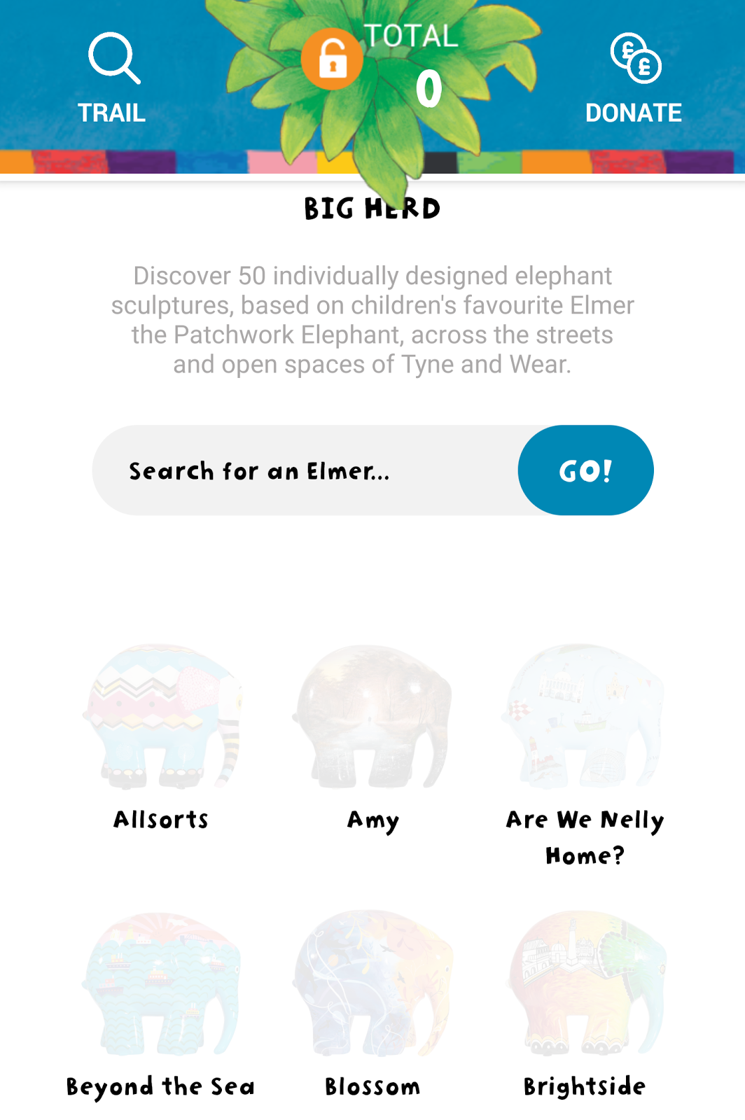 Elmer's Great North Parade App, Trail & What's On