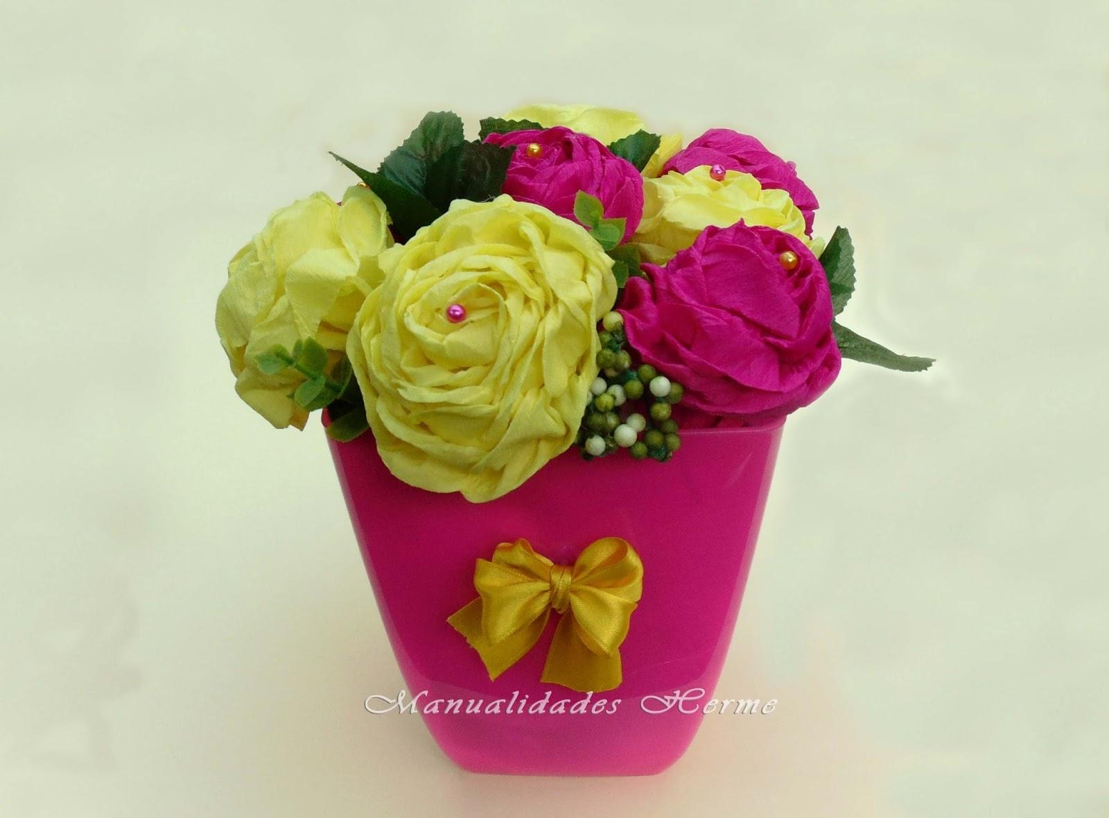 Manualidades Herme Como Hacer Rosas De Papel Crepe