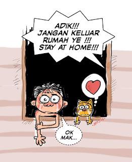 Stay At Home Tolong Sila Duduk DiRumah Malaysia Poster Quotes