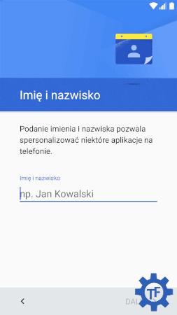 Android dodawanie nazwy nowego użytkownika
