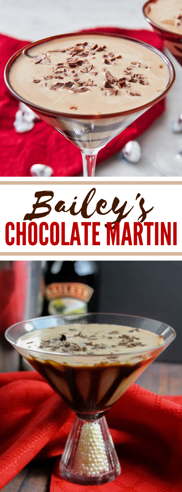 BAILEY'S CHOCOLATE MARTINI #drinks #cocktails