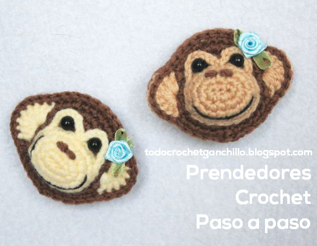 crochet monkey pin DIY