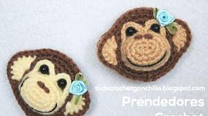 Prendedor Crochet Monkey Pin / Paso a paso