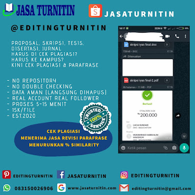 Jasa Cek Plagiarisme Online Gratis Profesional Di Daerah Khusus Ibukota Jakarta