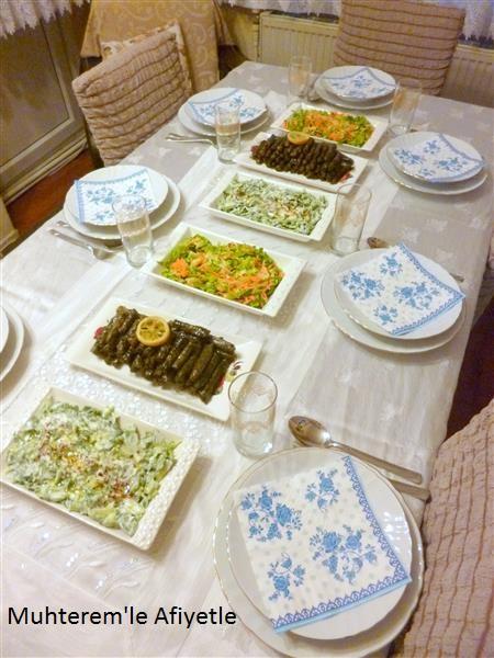 akşam yemeği sofrası