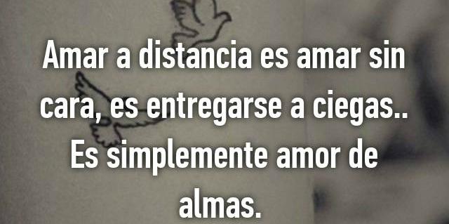 Amar a distancia