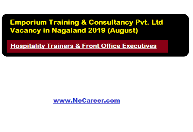 Emporium Training & Consultancy Pvt. Ltd Jobs Vacancy in Nagaland 2019 (August) | Various Posts