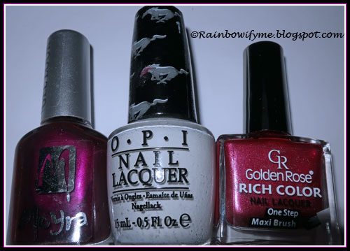 Moyra #942 Henriette, OPI Angel With A Leadfoot, Golden Rose #51