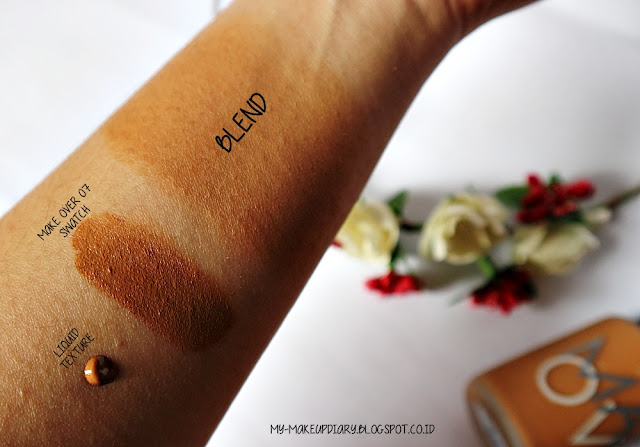 Swatch Make Over Matt Foundation in Caramel 07