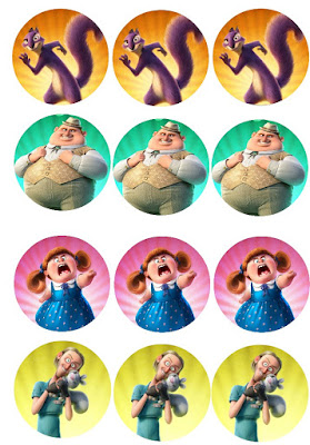 nut job cupcake toppers