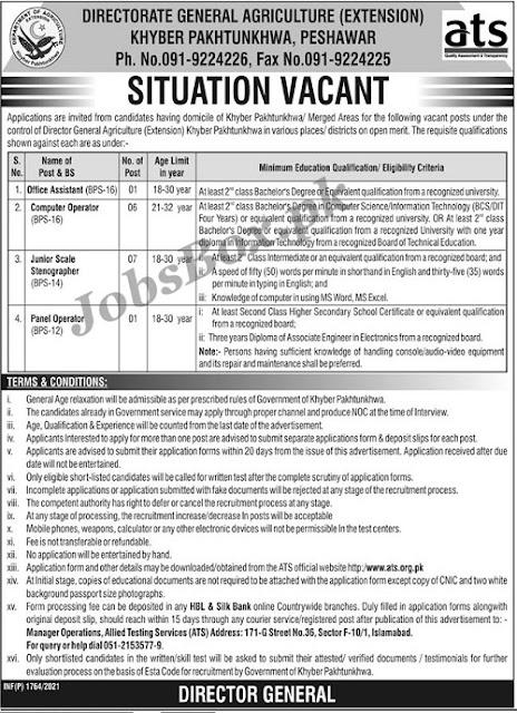 agriculture-department-kpk-jobs-2021-Download-application-form