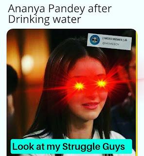 Top 10 Memes of Maine Bahut Struggle Kiya Hai, Ananya Pandey Memes