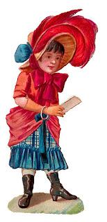 girl letter illustration antique fashion dress digital download