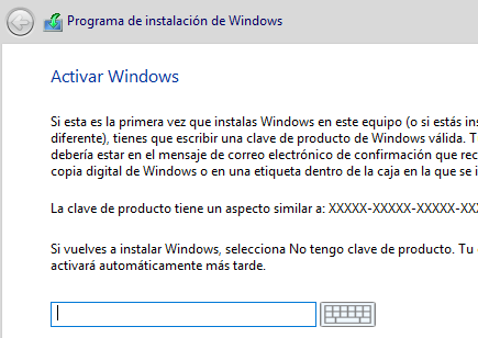 Windows Pro se instala como Home
