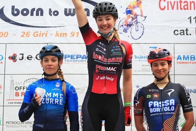 Michieletto (Team Top Girls Fassa Bortolo) consiguió subirse al podium en el primer Trofeo Born to Win de Civitanova Marche