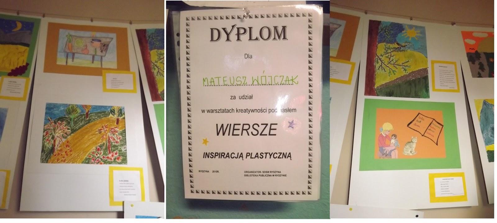 Rok Biblioteka W Rydzynie Wiersz Inspiracją Plastyczną