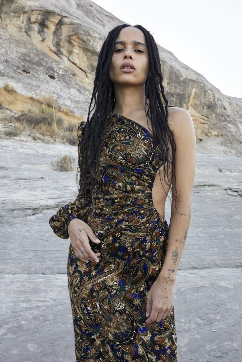 Zoe Kravitz stars in Saint Laurent summer 2020 campaign