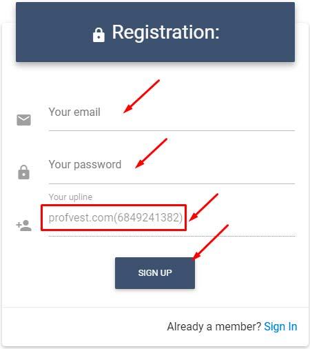 Регистрация в 24Invest.Pro 1