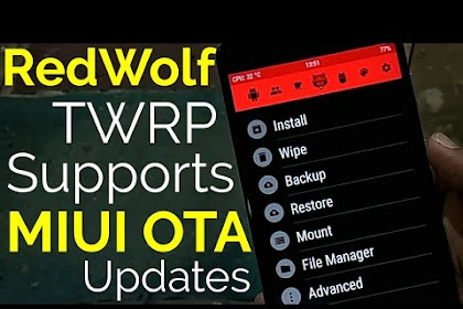 Pasang TWRP (RedWolf) Redmi Note 5A/Prime