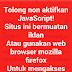 Kode HTML anti adblock UC browser untuk desktop