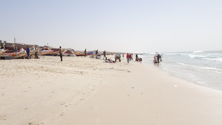 The sun lights it all up at the Mauritania beach
