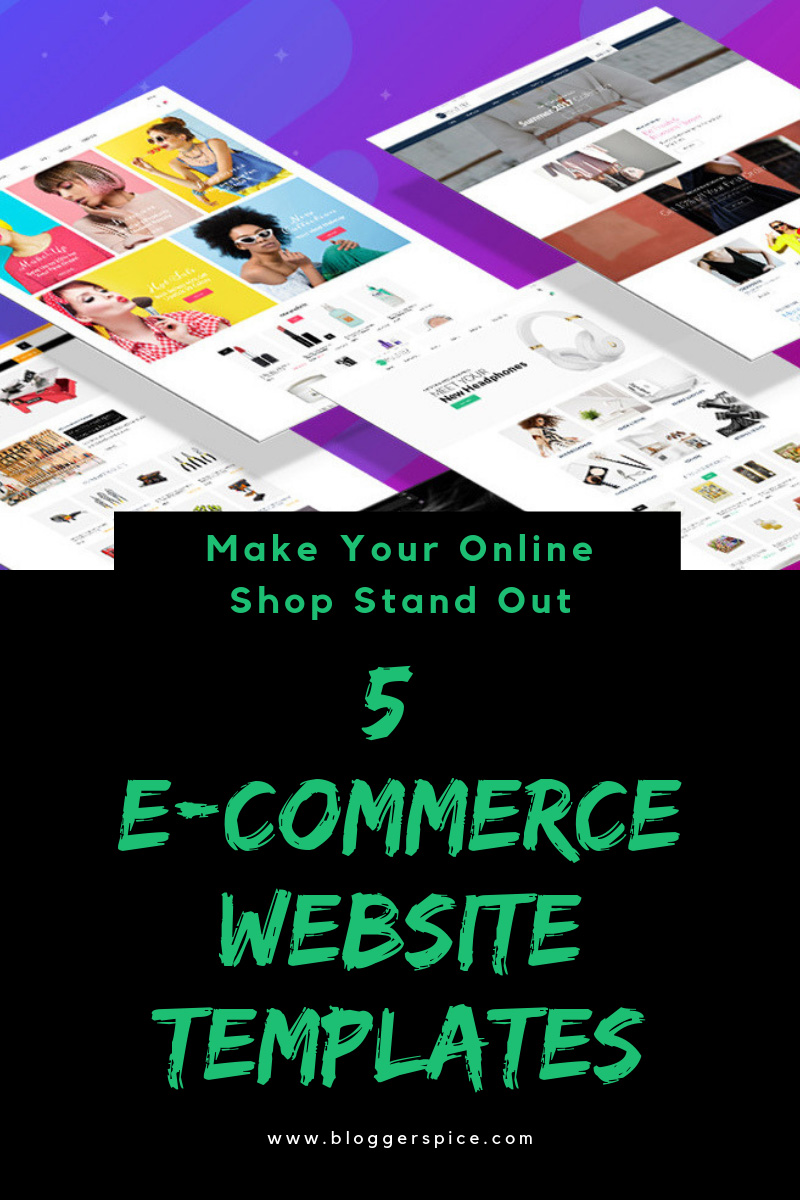 The Best 5 E-commerce Website Templates to Make Your Shop Stand Out