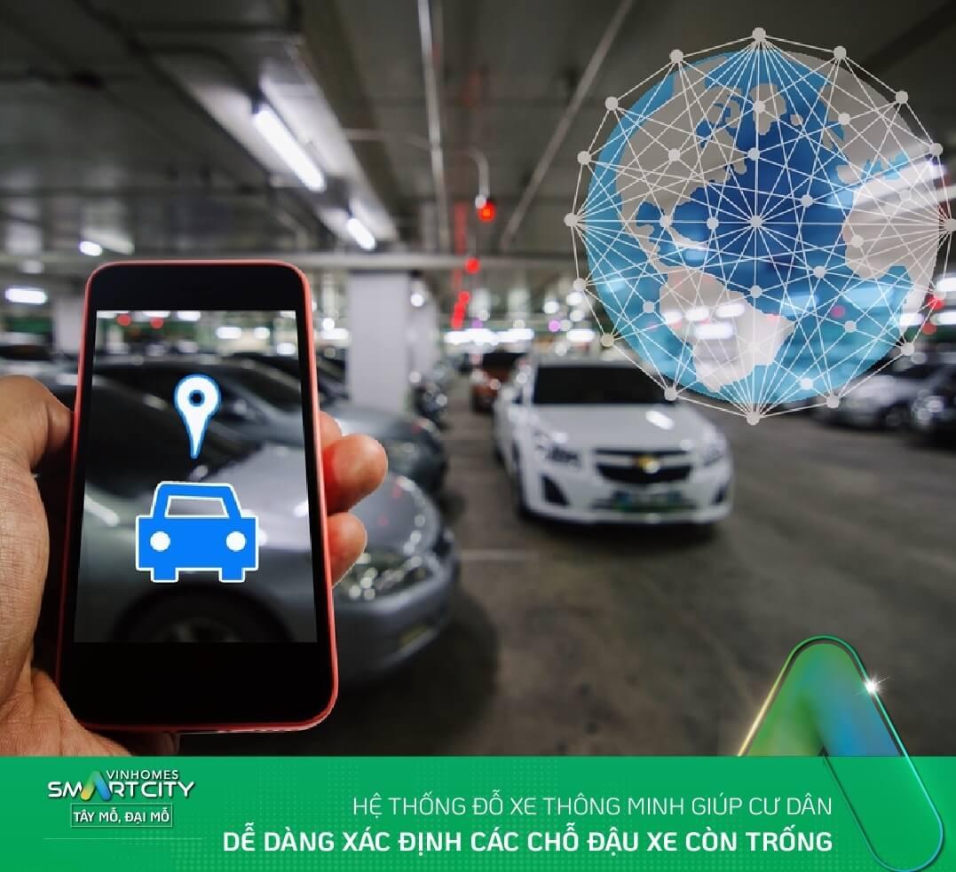 Hệ thống đỗ xe thông minh của Vinhomes Smart City
