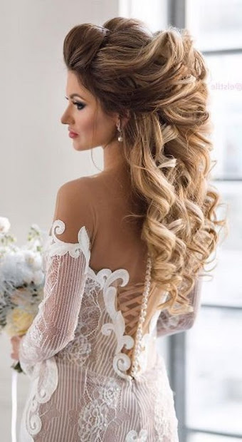 long wedding hairstyles brides