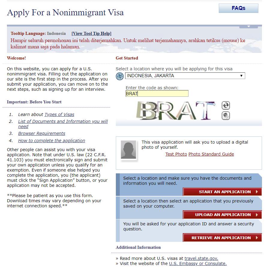 Pengalaman Mengurus Visa Amerika Serikat The Story Of My Life