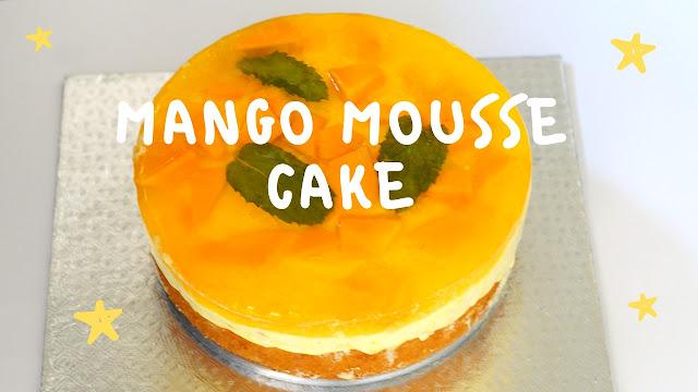 Eggless Mango Mousse Cake