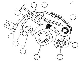 Bagian kontak pemutus (platina)