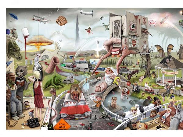 Ilustrações: Jordan Monsell cria pôster com mais de 170 referências às obras de Stephen King