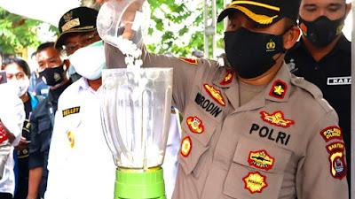 Polres Cilegon Musnahkan Ribuan Pil Eximer dan Sabu di Peresmian Kampung tangguh Anti Narkoba