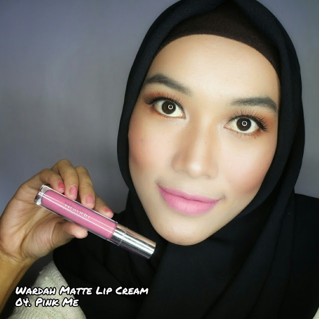 Wardah Exclusive Matte Lip Cream 04. Pink Me