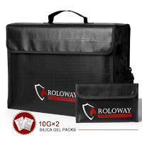 ROLOWAY Large Fireproof Document Bag