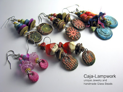 handmade Lampwork-Clay Earrings