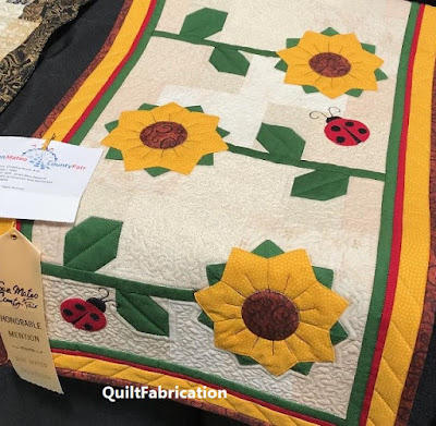 Sunflower Runner by QuiltFabrication