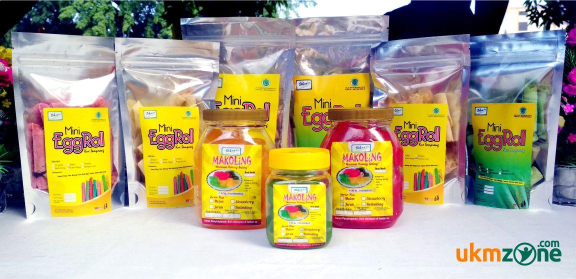Produk kuliner UMKM IKM Depok Sekar Ku - Mini Egg Roll dan Makoling (manisan kolang-kaling) | UKM ZONE