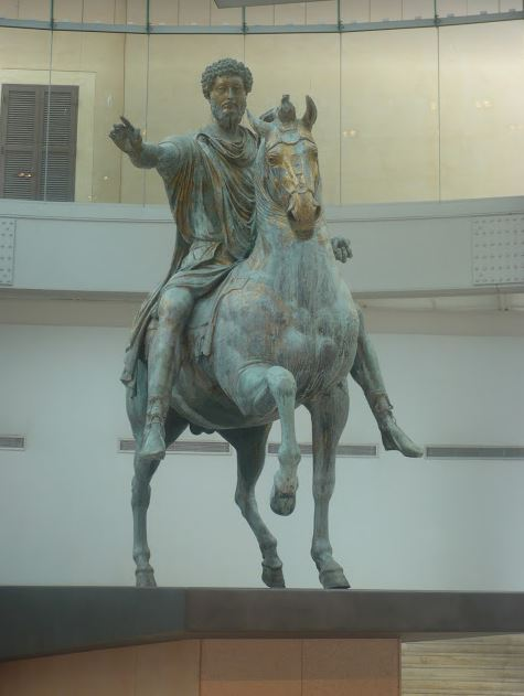statua di Marco Aurelio ai Musei Capitolini