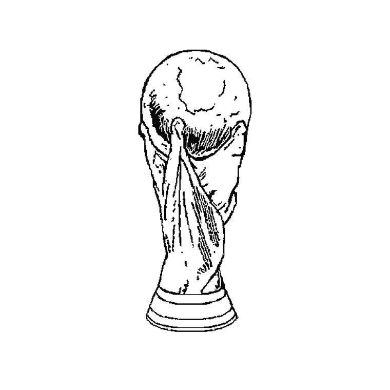 Coloriage de la Coupe de Football 2018   Coloriage à imprimer gratuit